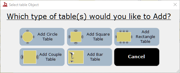 Select Table Object